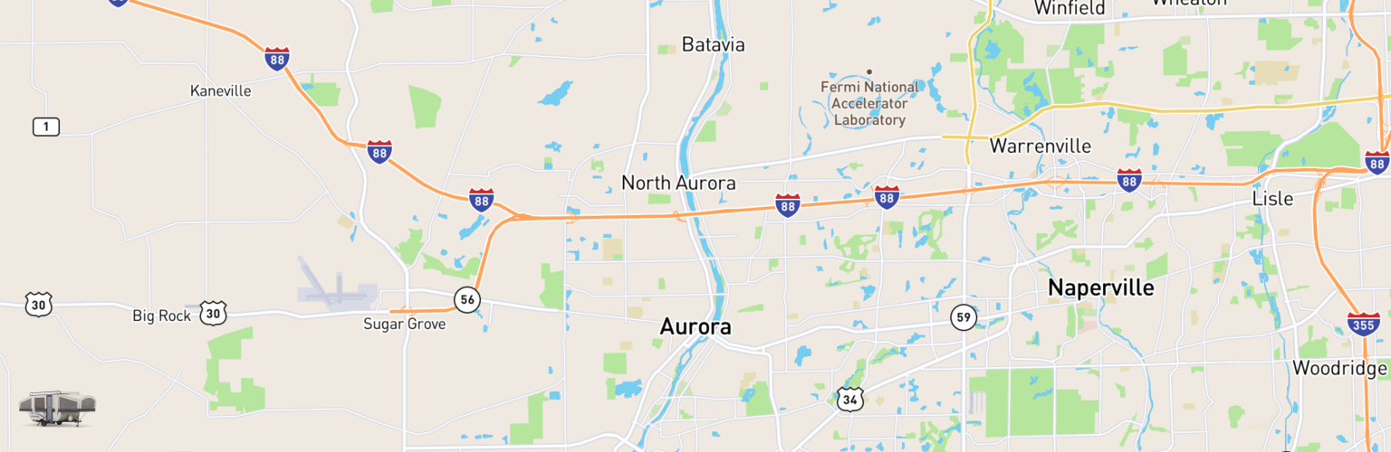 Pop Up Rentals Map Aurora, IL
