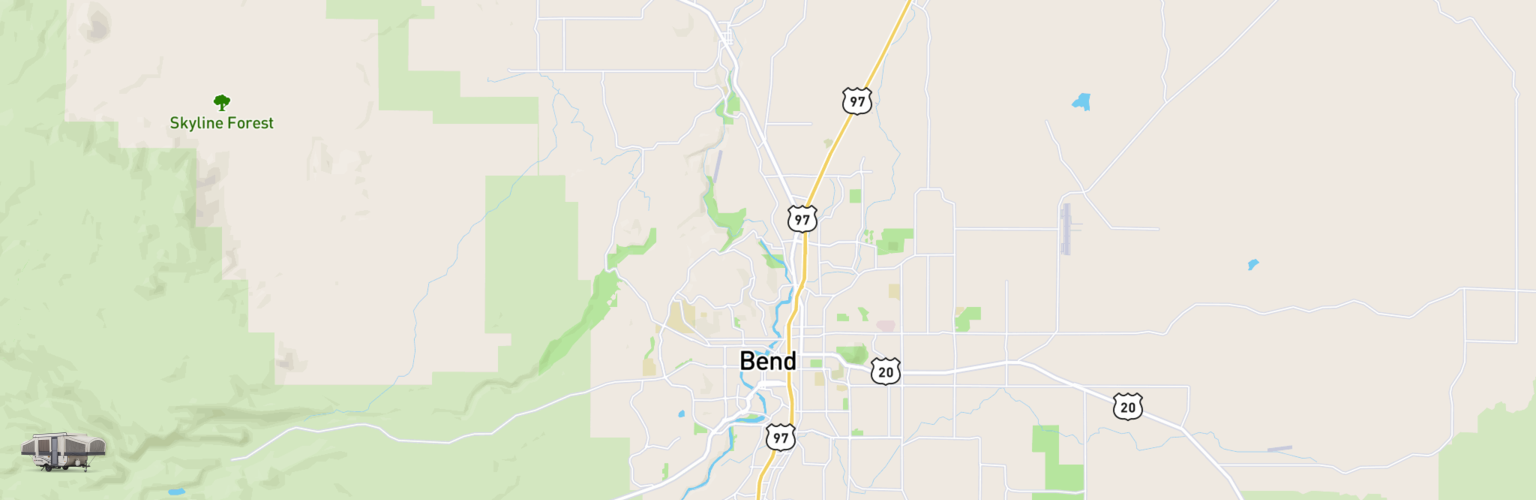 Pop Up Rentals Map Bend, OR