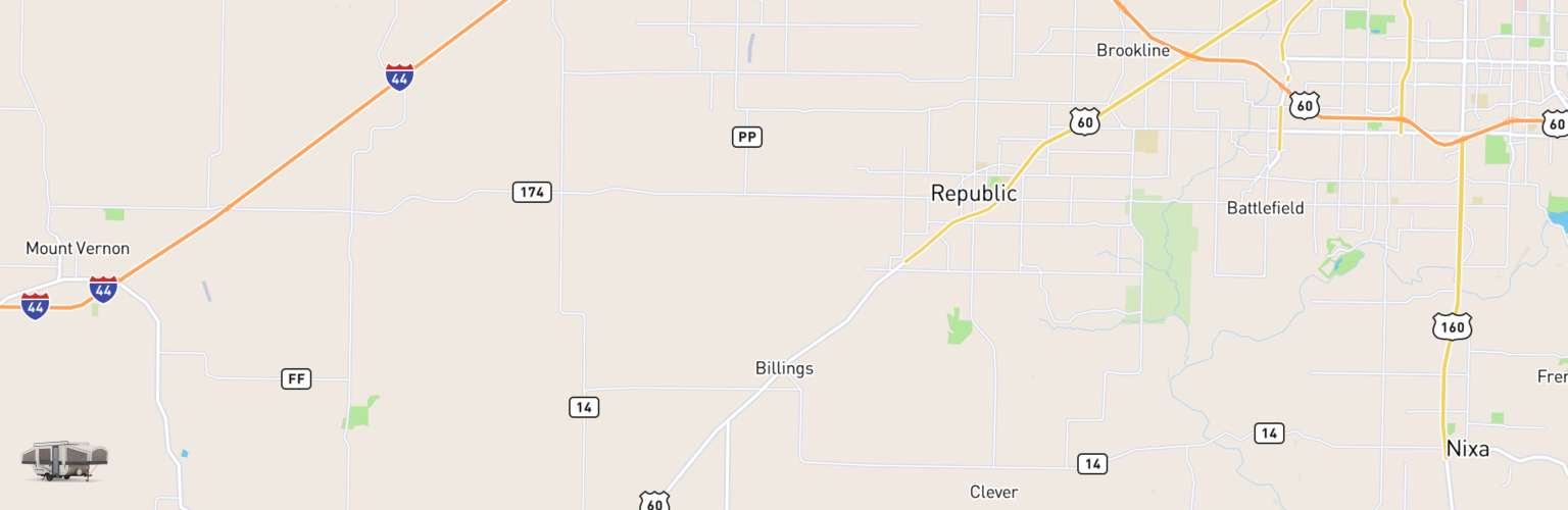 Pop Up Rentals Map Billings, MO