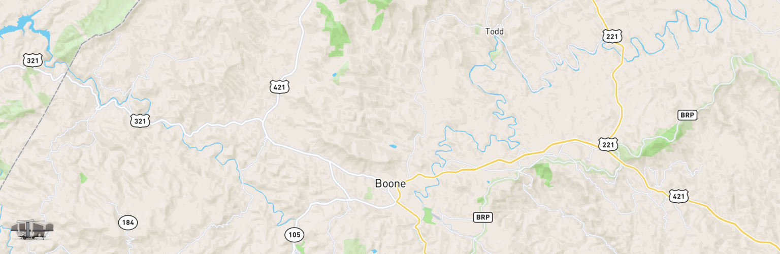 Pop Up Rentals Map Boone, NC