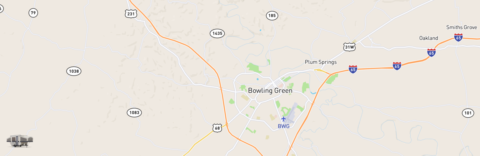 Pop Up Rentals Map Bowling Green, KY