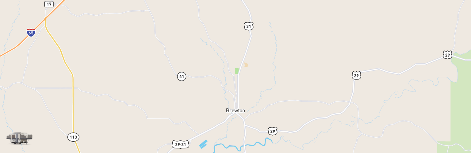 Pop Up Rentals Map Brewton, AL