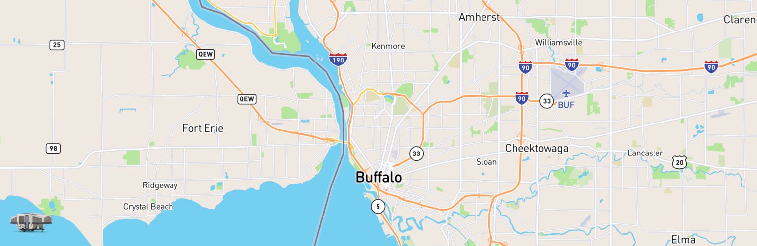 Pop Up Rentals Map Buffalo, NY