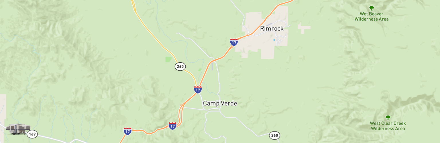 Pop Up Rentals Map Camp Verde, AZ