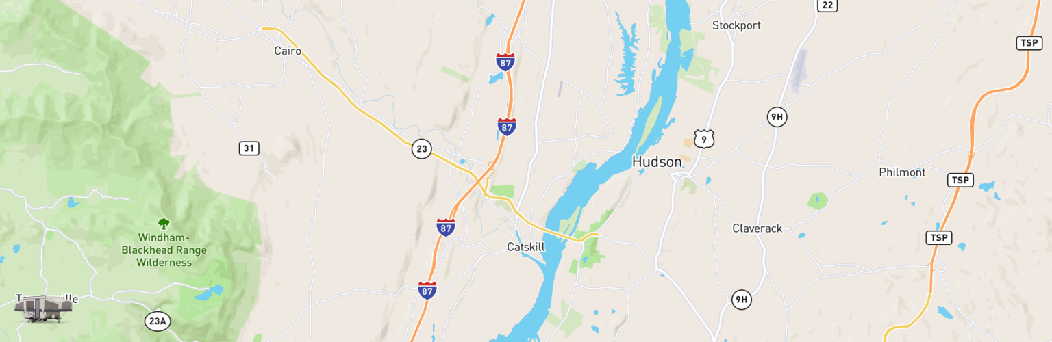 Pop Up Rentals Map Catskill, NY