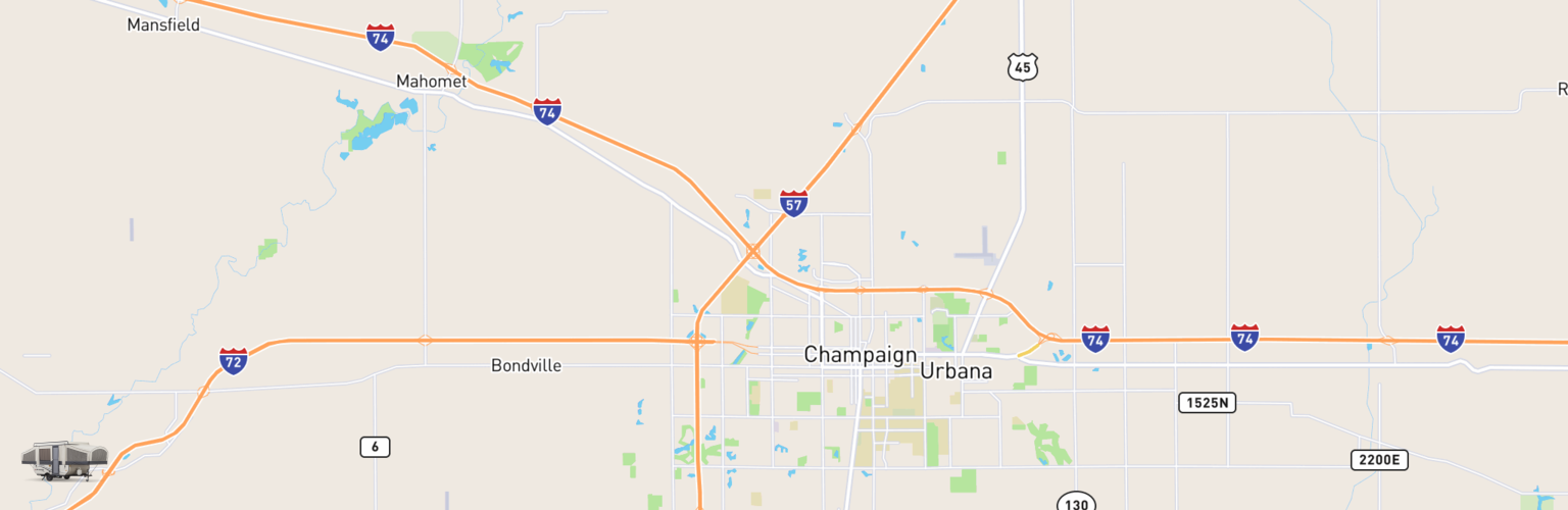 Pop Up Rentals Map Champaign Urbana, IL