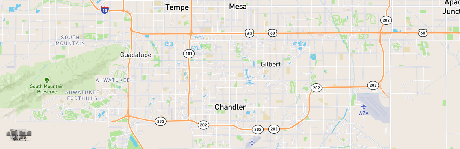 Pop Up Rentals Map Chandler, AZ