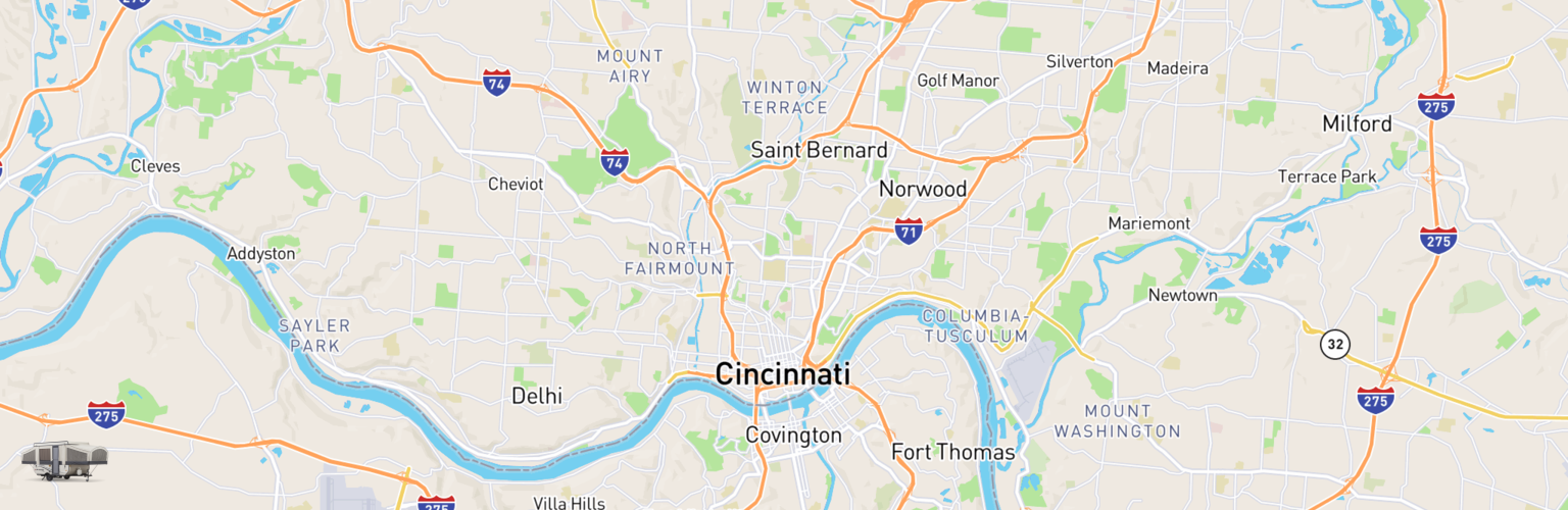Pop Up Rentals Map Cincinnati, OH
