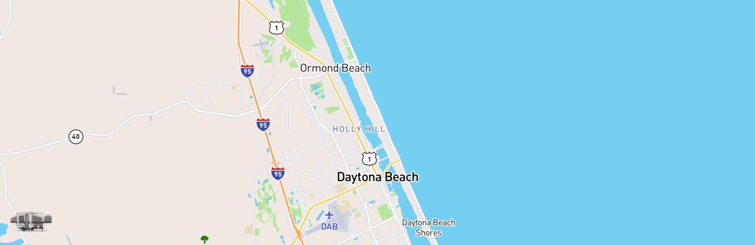 Pop Up Rentals Map Daytona Beach, FL