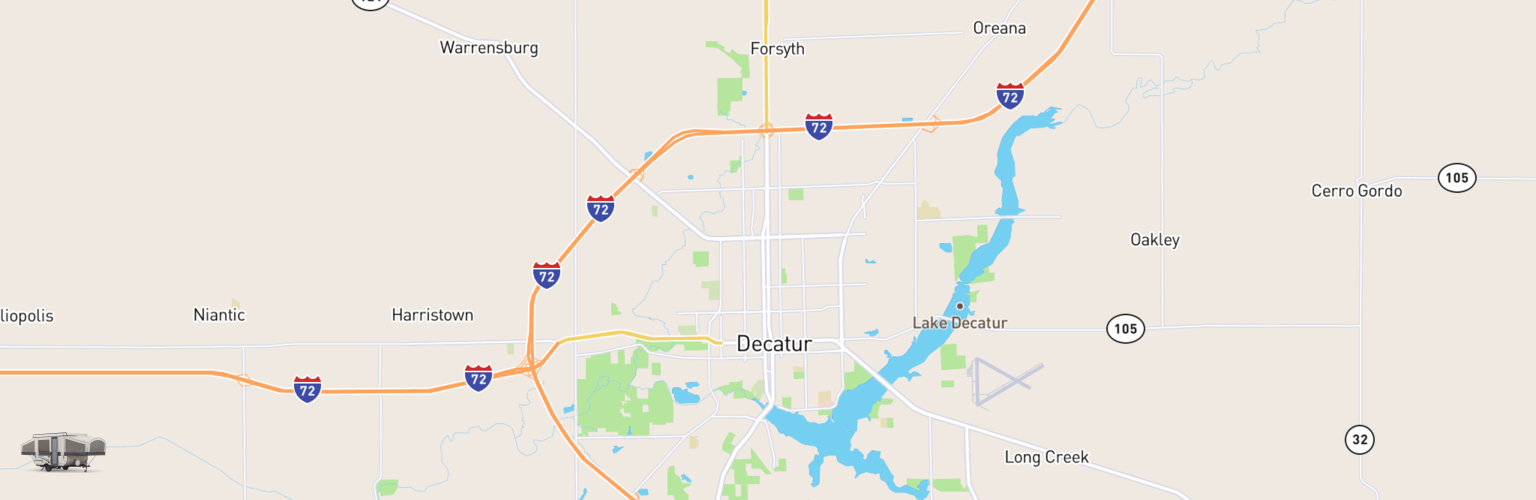 Pop Up Rentals Map Decatur, IL