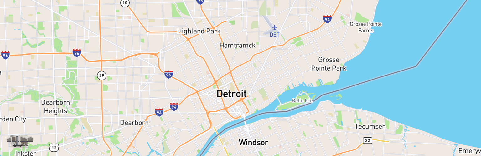 Pop Up Rentals Map Detroit, MI
