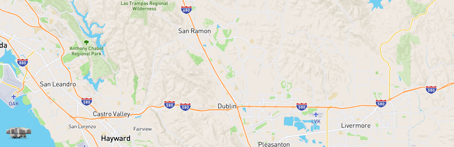 Pop Up Rentals Map Dublin, CA