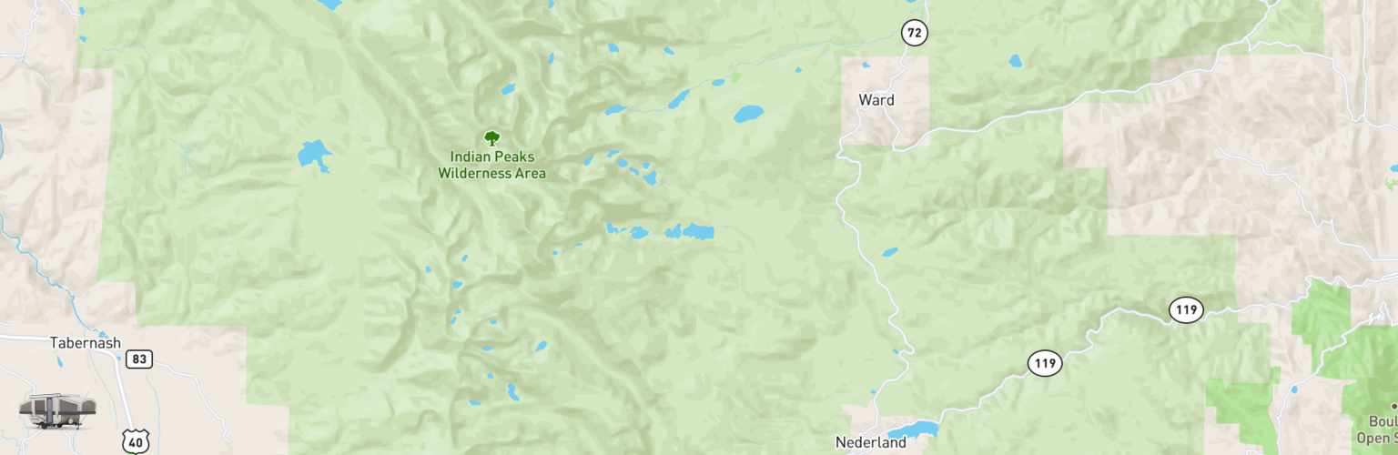 Pop Up Rentals Map Eastern Slope, CO