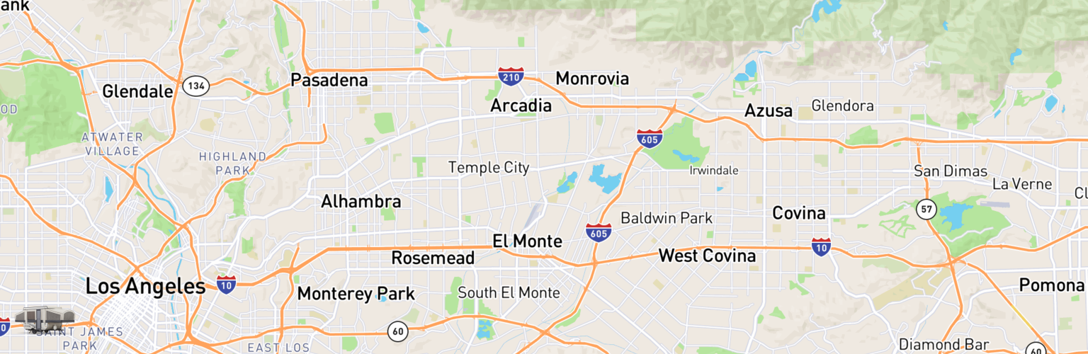 Pop Up Rentals Map El Monte, CA