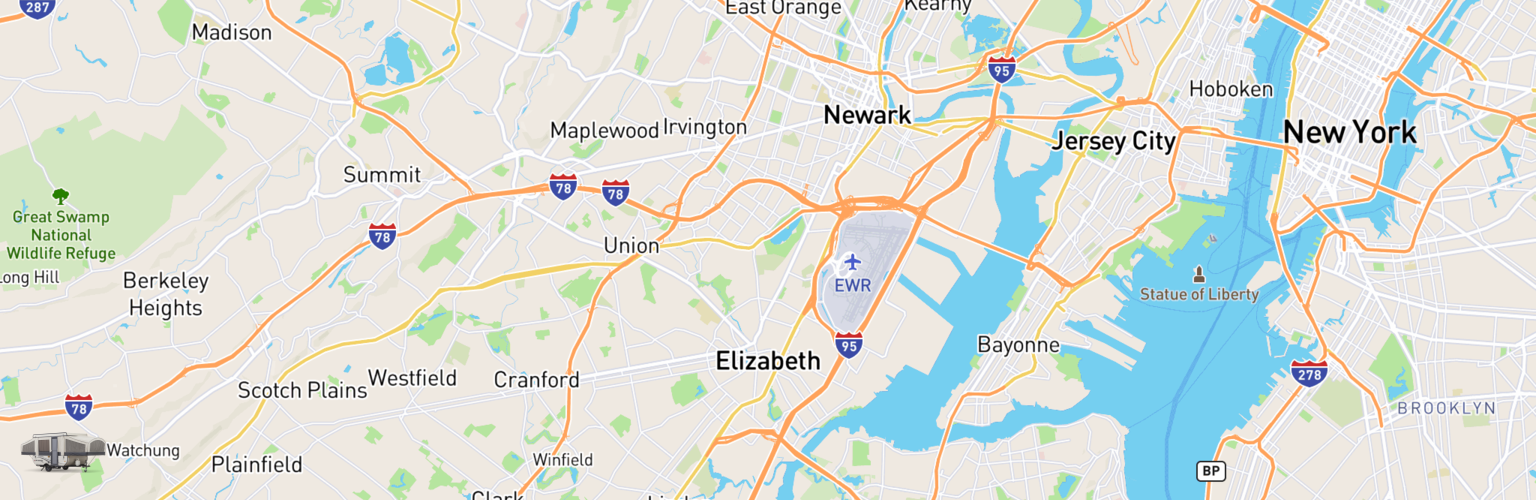Pop Up Rentals Map Elizabeth, NJ