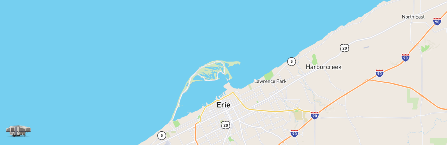 Pop Up Rentals Map Erie, PA