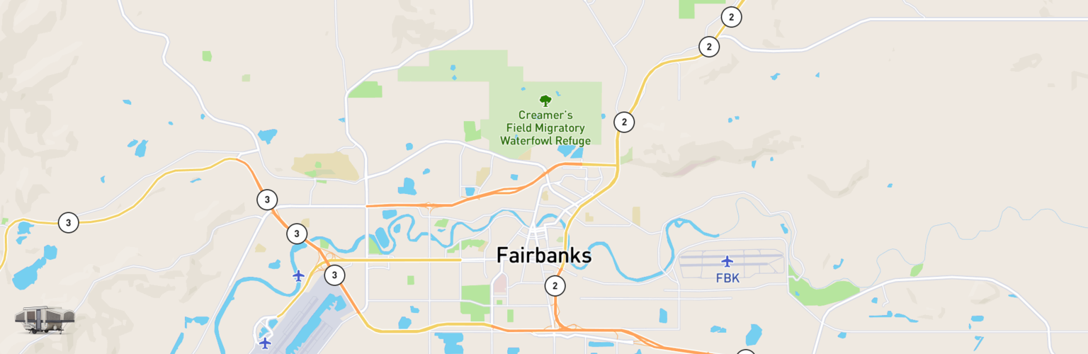 Pop Up Rentals Map Fairbanks, AK