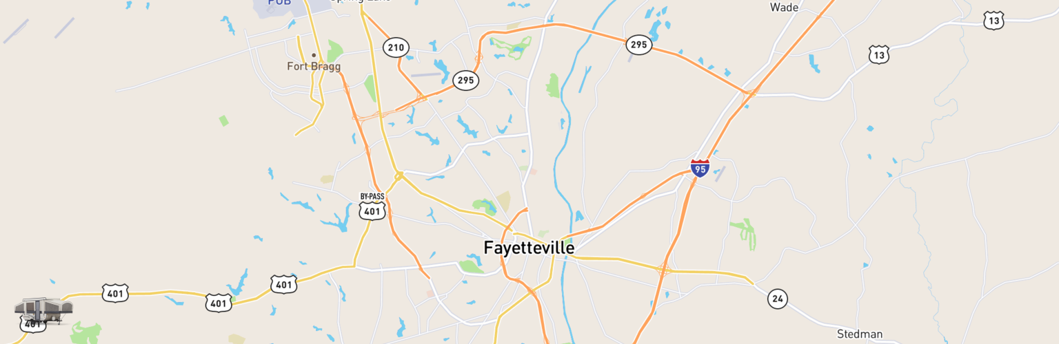 Pop Up Rentals Map Fayetteville, NC