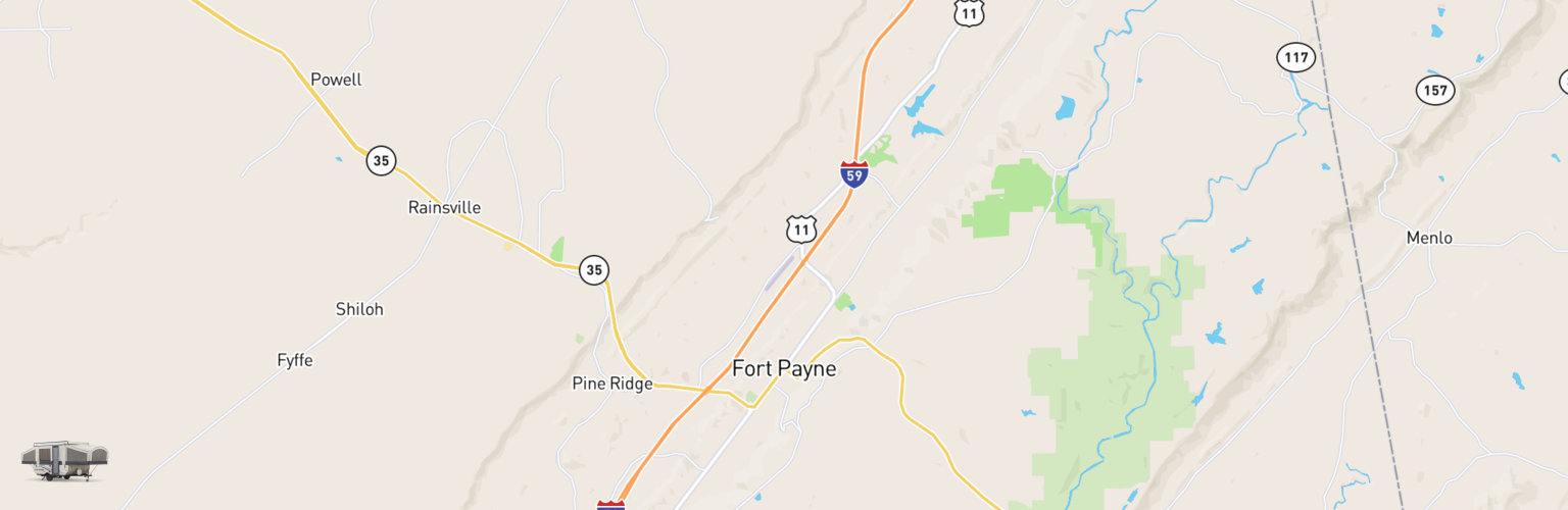 Pop Up Rentals Map Fort Payne, AL