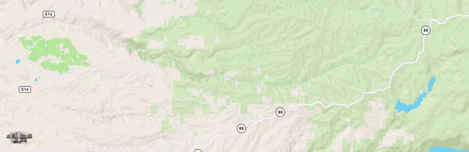 Pop Up Rentals Map Gold Country, CA