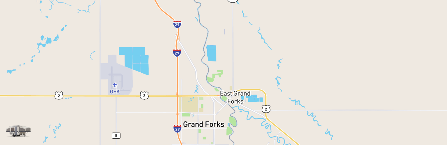 Pop Up Rentals Map Grand Forks, ND