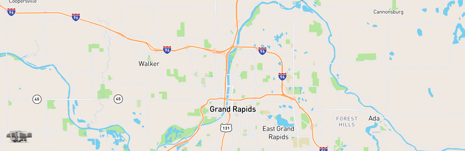 Pop Up Rentals Map Grand Rapids, MI