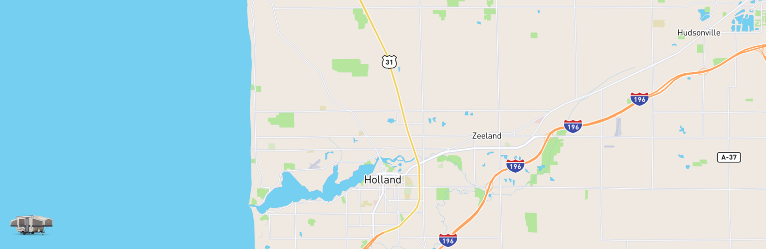 Pop Up Rentals Map Holland, MI
