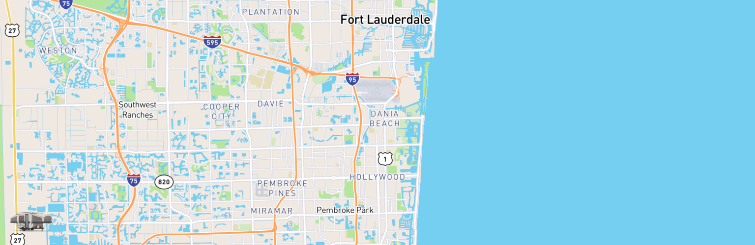 Pop Up Rentals Map Hollywood, FL