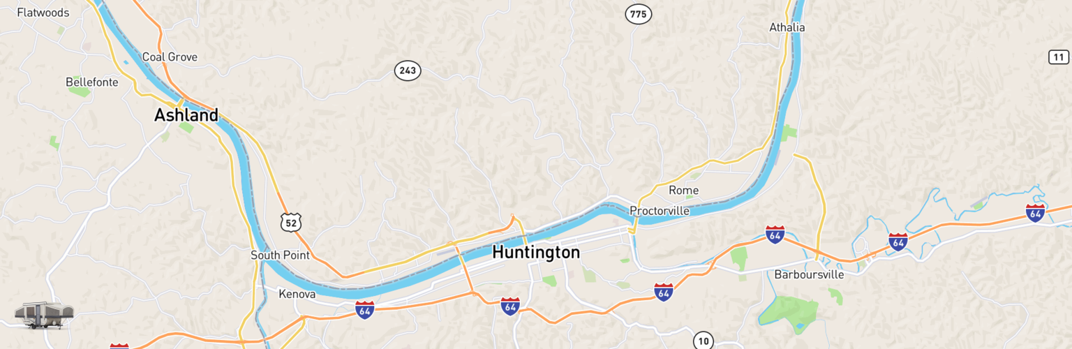 Pop Up Rentals Map Huntington, WV