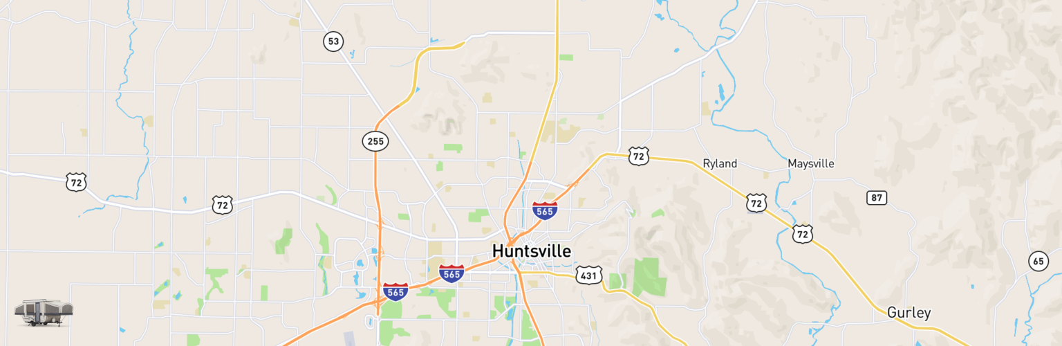 Pop Up Rentals Map Huntsville, AL