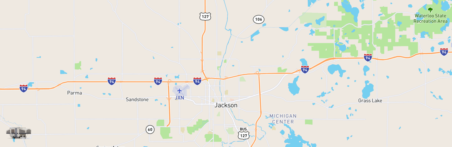 Pop Up Rentals Map Jackson, MI