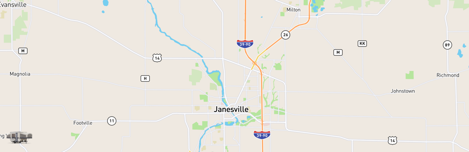Pop Up Rentals Map Janesville, WI