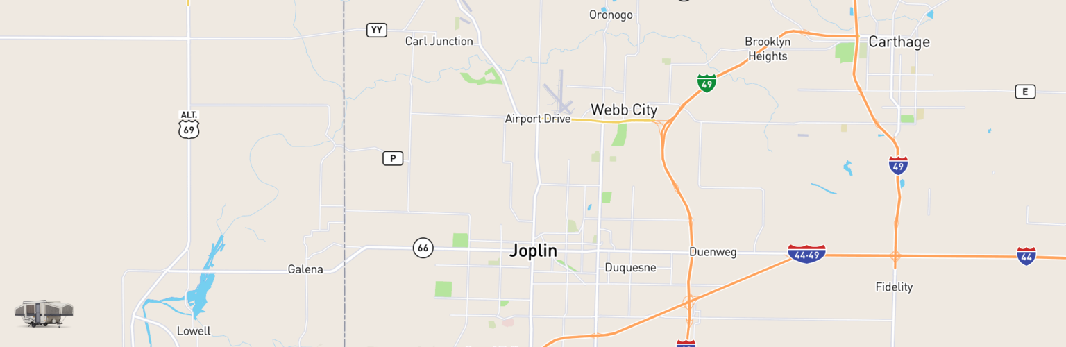 Pop Up Rentals Map Joplin, MO