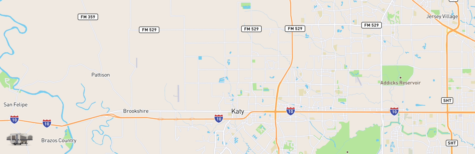 Pop Up Rentals Map Katy, TX