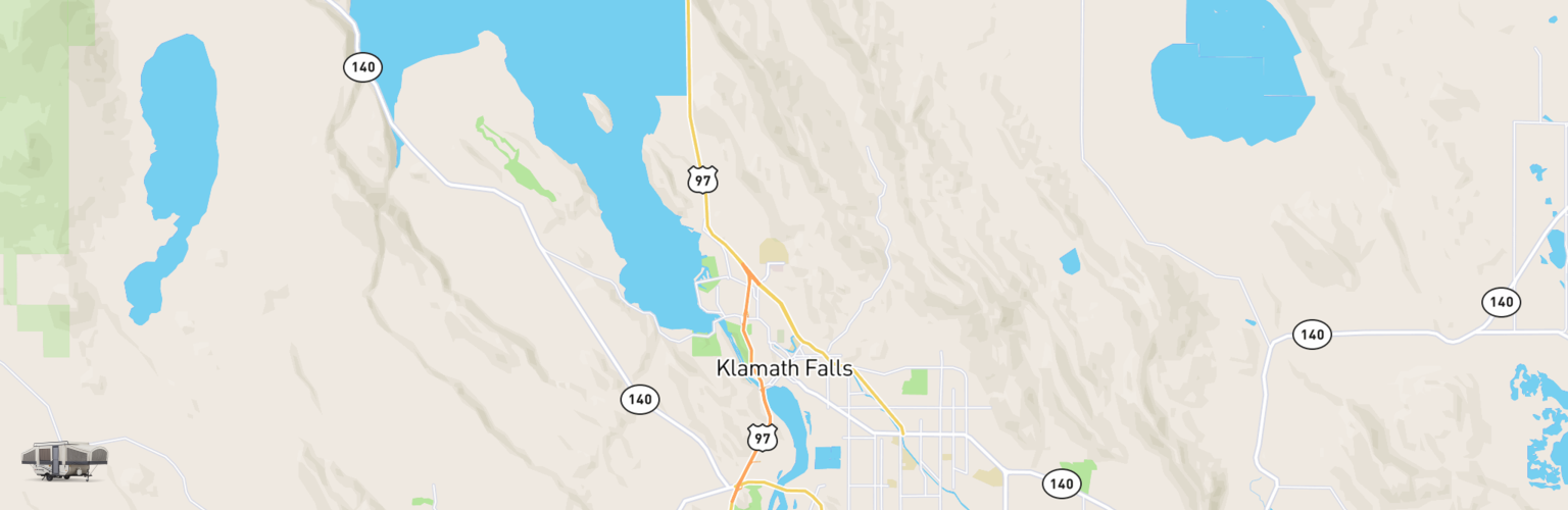 Pop Up Rentals Map Klamath Falls, OR
