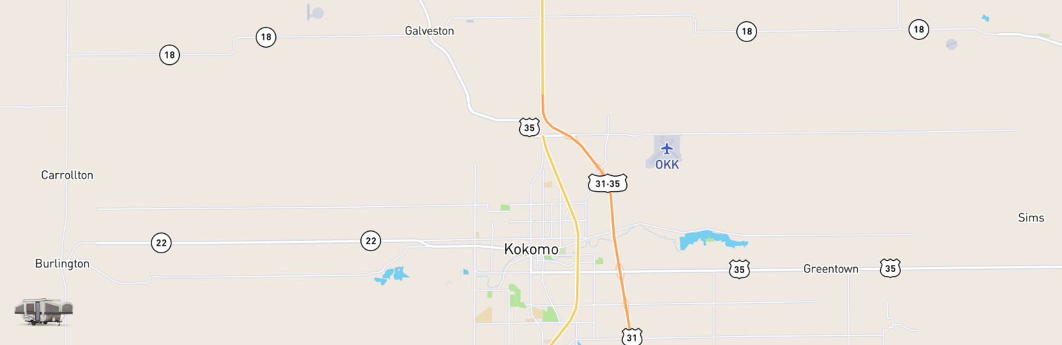 Pop Up Rentals Map Kokomo, IN