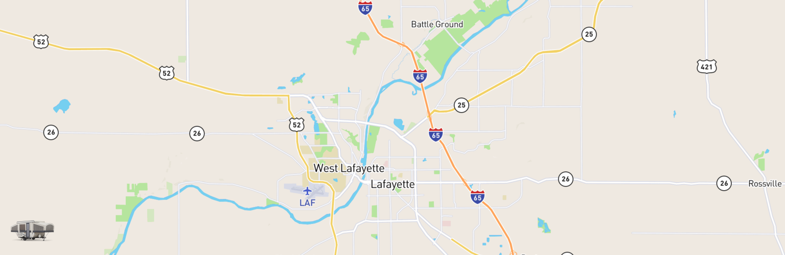 Pop Up Rentals Map Lafayette, IN