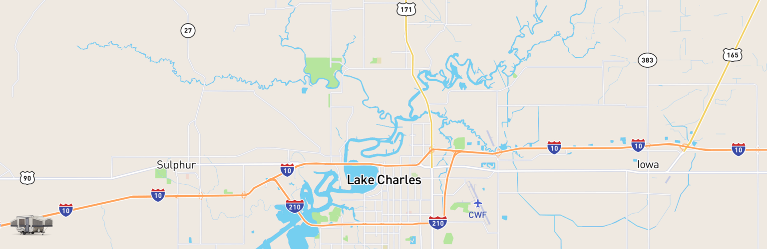 Pop Up Rentals Map Lake Charles, LA