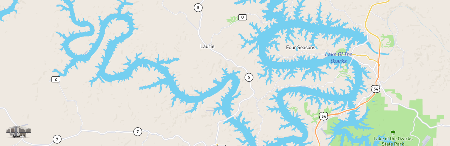 Pop Up Rentals Map Lake Of The Ozarks, MO