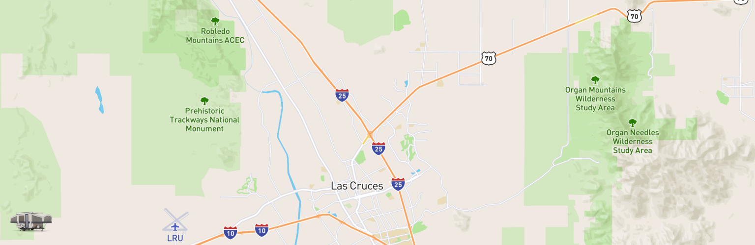 Pop Up Rentals Map Las Cruces, NM