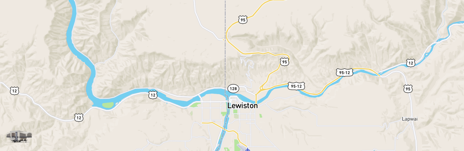 Pop Up Rentals Map Lewiston Clarkston, ID