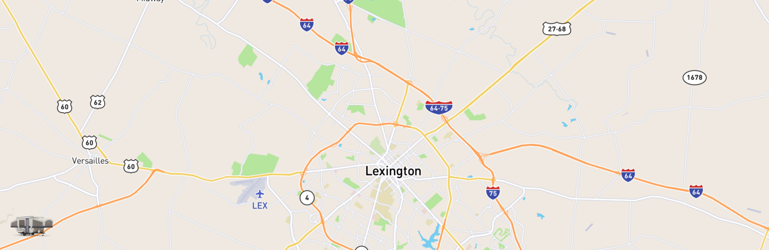 Pop Up Rentals Map Lexington, KY