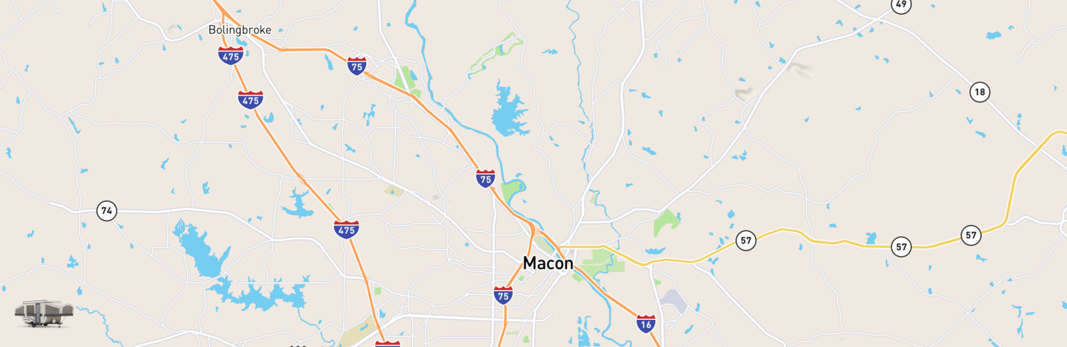Pop Up Rentals Map Macon Warner Robins, GA