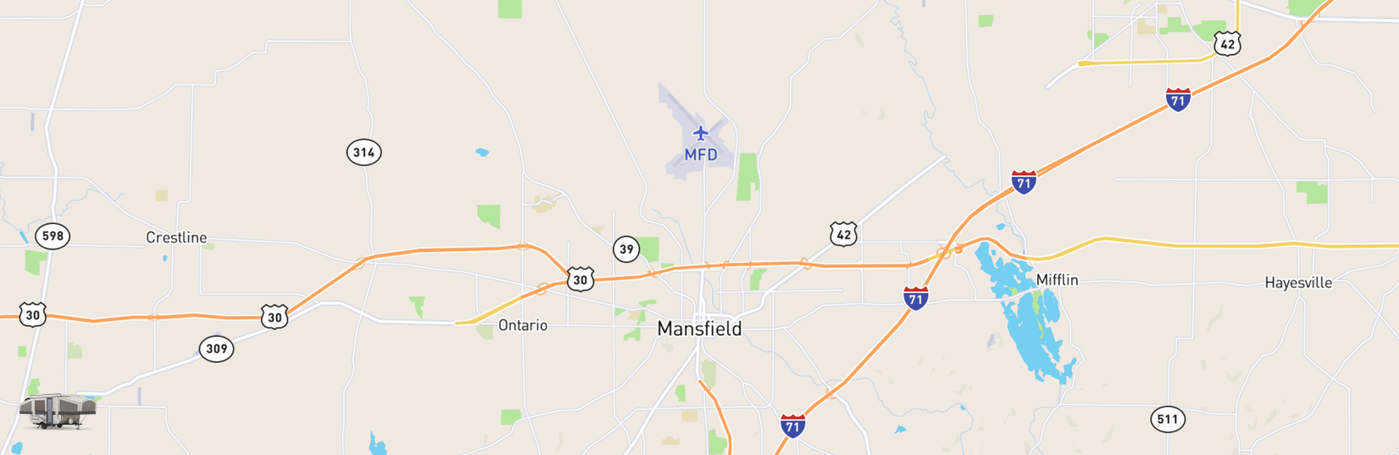 Pop Up Rentals Map Mansfield, OH