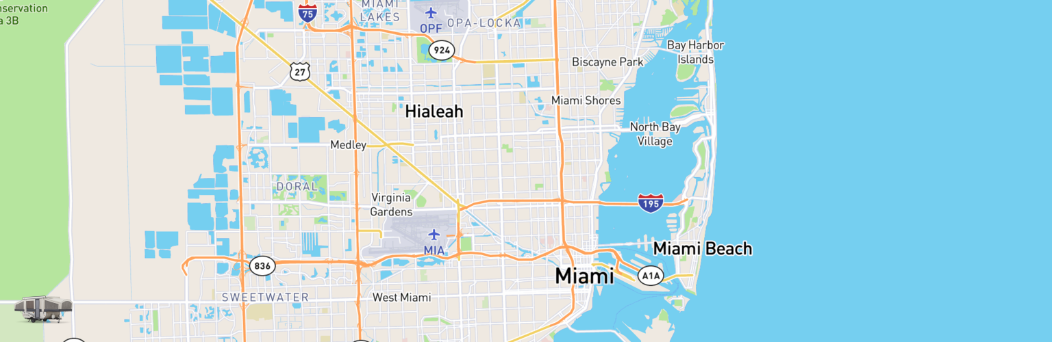 Pop Up Rentals Map Miami, FL