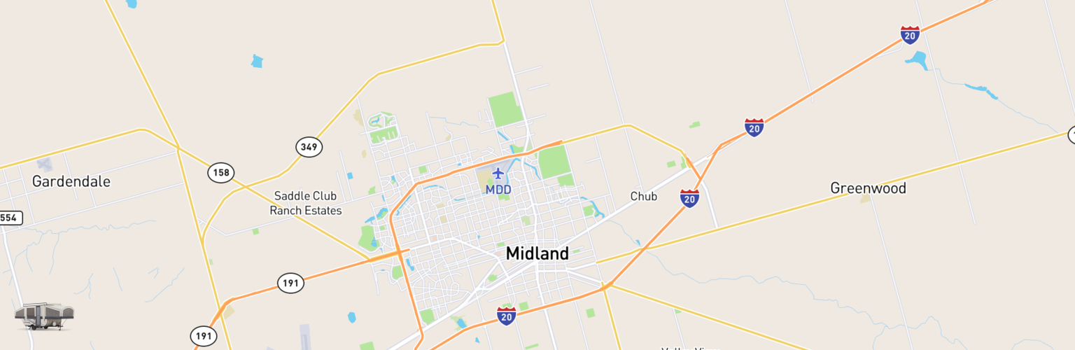 Pop Up Rentals Map Midland, TX