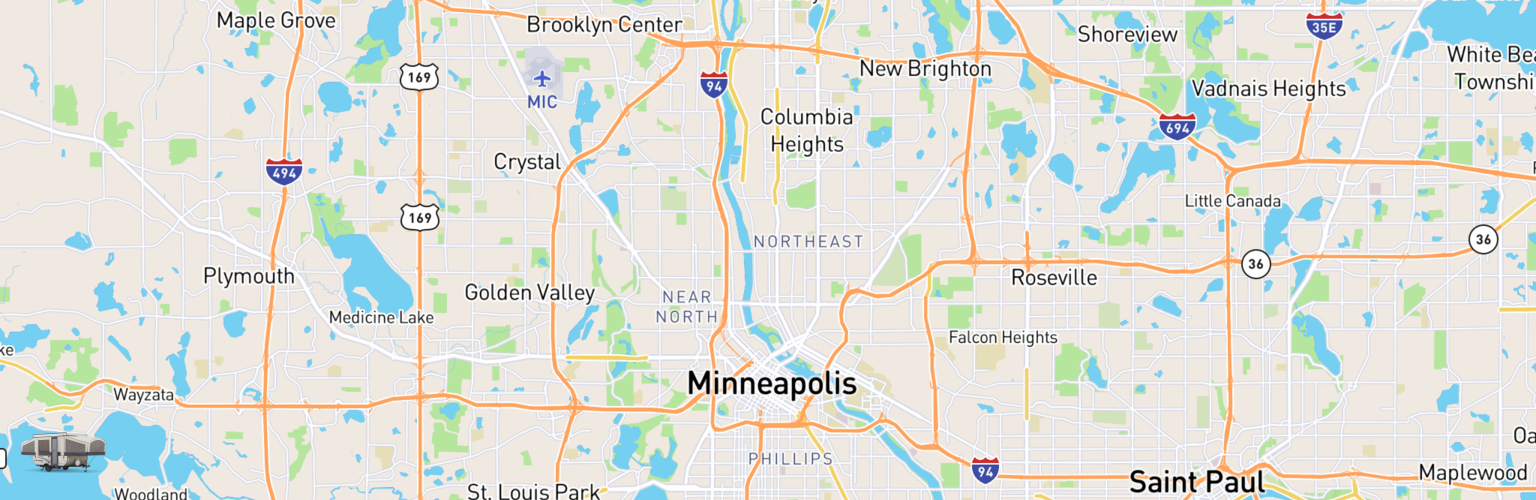 Pop Up Rentals Map Minneapolis, MN