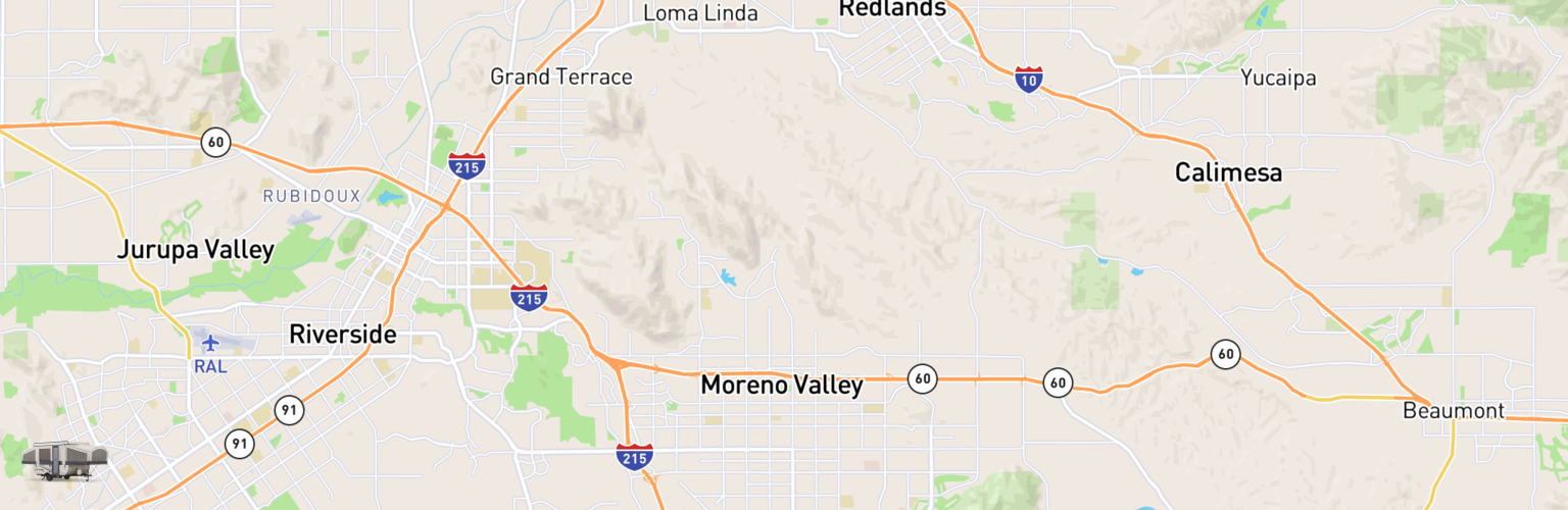 Pop Up Rentals Map Moreno Valley, CA