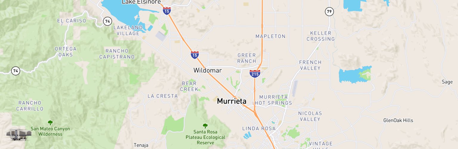 Pop Up Rentals Map Murrieta, CA