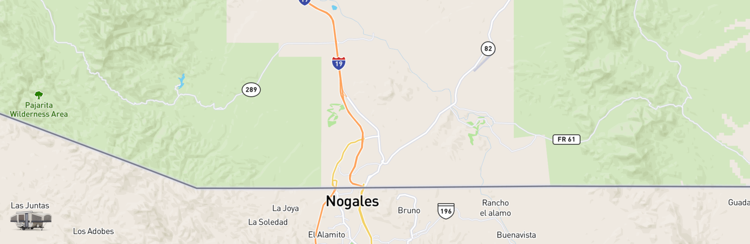Pop Up Rentals Map Nogales, AZ